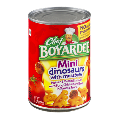 Chef Boyardee Mini Dinosaurs with Meatballs