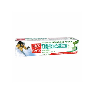 Kiss My Face Aloe Vera Triple Action Toothpaste Gel