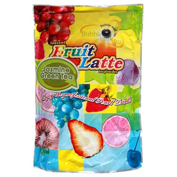 Trojan Tea Trojan Instant Fruit Latte Bubble Tea Milk Powder, Jasmine Green Tea, 2.2-Pound Bags (Pack of 2)