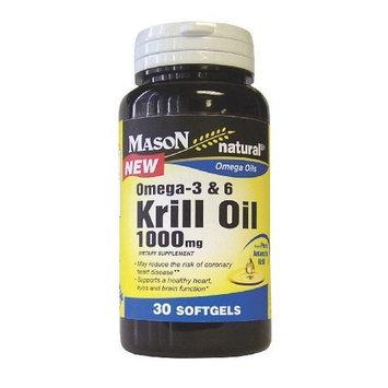 Mason Vitamins Krill Oil 1000mg, Omega-3-6 from Pure Antarctic Krill, 30 softgels