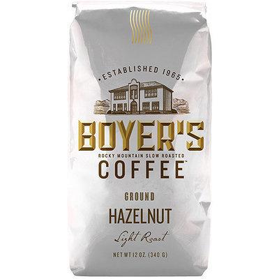 Boyer's Coffee Hazelnut Light Roast Ground Coffee, 12 oz
