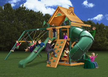 Gorilla Playsets Blue Ridge Mountaineer Wood Swing Set