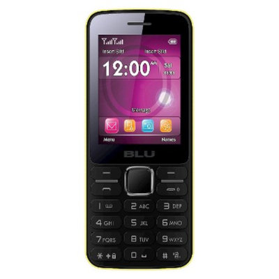 Blu Janet T175 Unlocked Cell Phone for GSM Compatible - Yellow