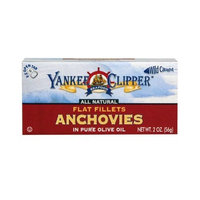 Yankee Clipper Anchovies,, Flat, 2-Ounce (Pack of 12)