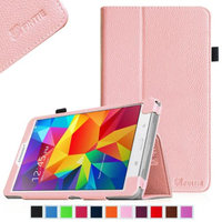 Fintie Folio Premium Vegan Leather Case Cover for Samsung Tab 4 7.0 7-Inch Tablet, Pink