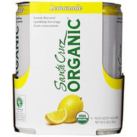 Santa Cruz Organic Lemonade Lemon Flavored Sparkling Beverage, 4-count, 10.5 Ounce (Pack of 6)