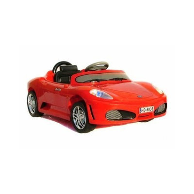 Raid Radio Remote Controlled Electric Ride-On Ferrari Sports Car for Kids Ages 3-5 w/ Lights & Sound Effect (Red)
