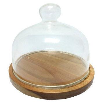 Threshold Acacia and Glass Cheese Dome