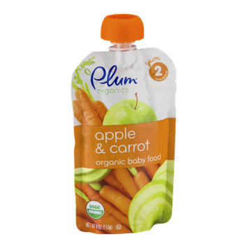 Plum Organics Organic Baby Food Apple & Carrot  Stage 2