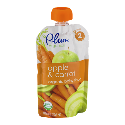 Plum Organics Organic Baby Food Apple & Carrot  Stage 2