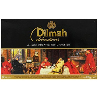 Dilmah Celebrations Collection Teas, 80-Count Gift Package