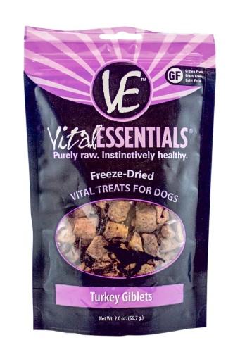 Vital Essentials Freeze Dried Turkey Giblets Vital Treats for Dogs