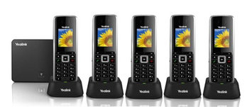 Yealink SIPW52P + (4)SIPW52H Business IP DECT Phone