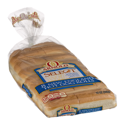 Arnold Select New England Hot Dog Rolls - 8 CT