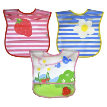 Green Sprouts green sprouts 3 Pack Bib - Garden