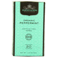 Harney & Sons Harney and Sons Premium Tea Bags, Organic Peppermint, 20 Count