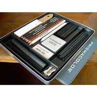 Strathmore Prismacolor - Premier 24Pc Charcoal Sketch Set, Incl. Reusable Metal Tin