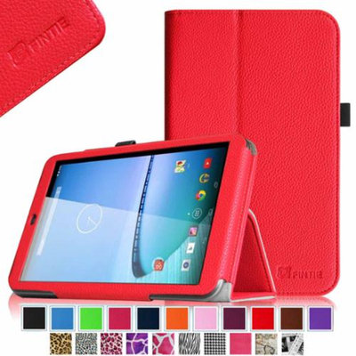 Fintie Premium Vegan Leather Stand Cover with Stylus Loop for Hisense Sero 8 Tablet, Red