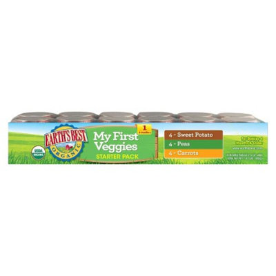 Earth's Best Organic My First Veggies Baby Food Starter Pack, 2.5 oz.