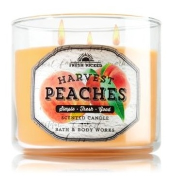 Bath & Body Works® Fresh Picked HARVEST PEACHES 3-Wick Scented Candle