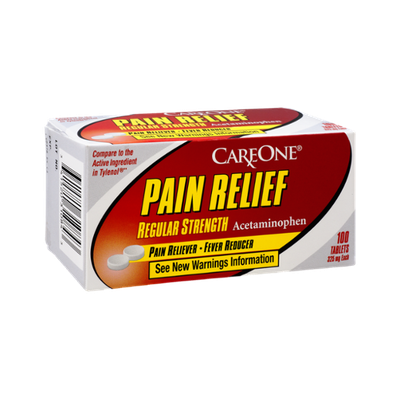 CareOne Pain Relief Regular Strength Pain Reliever-Fever Reducer - 100 CT