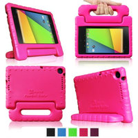 Fintie Shock Proof Convertible Handle Stand Kids Friendly for Google Nexus 7 FHD 2nd Gen 2013 Android Tablet, Magenta