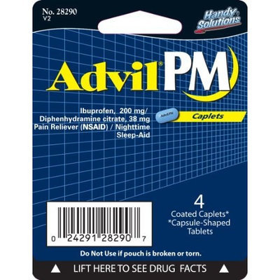 Handy Solutions Advil Pm Tablets, 4 Count (Pack of 6)