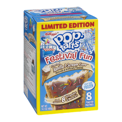Kellogg's Pop-Tarts Festival Fun Frosted Vanilla I-Scream Cone Toaster Pastries