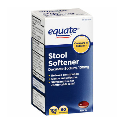 Equate Stool Softener 100mg Capsules