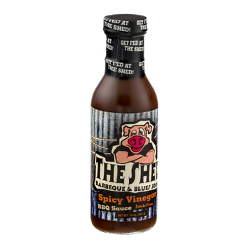 The Shed Barbeque & Blues Joint Junk-Free BBQ Sauce Spicy Vinegar