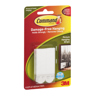 Command Picture Hanging Strips Medium - 4 CT