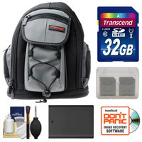 Precision Design PD-MBP ILC Digital Camera Mini Sling Backpack with 32GB Card + BP1030 Battery + Accessory Kit for Samsung NX210 & NX1000 Cameras