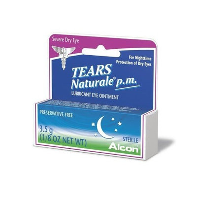 Alcon Tears Naturale P.M. Lubricant Eye Ointment, 1/8-Ounce Tubes (Pack of 2)