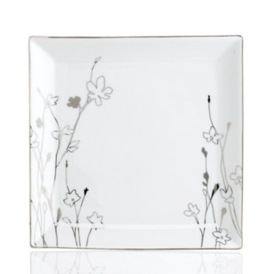 Charter Club Dinnerware, Grand Buffet Platinum Silhouette Square Dinner Plate