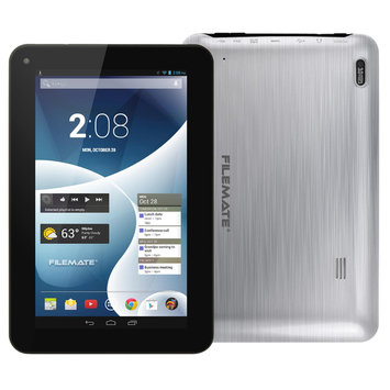 Filemate FileMate(R) ClearX4 Tablet With 7in. Touch-Screen Display Quad-Core Processor, 16GB Storage, Silver