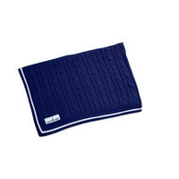 Crown Crafts Nautica William Cable Navy Knit Blanket