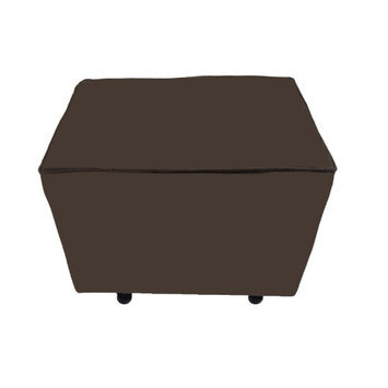 Fun Furnishings Comfy Cozy Ottoman - Chocolate Velvet