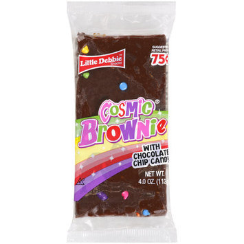 Little Debbie Snacks Cosmic Brownie With Chocolate Chip Candy, 4 oz