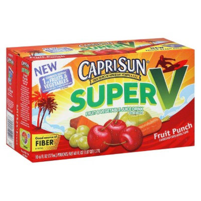 Capri Sun Super V Fruit Punch Fruit & Vegetable Juice Drink 6 oz 10 pk