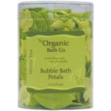 Organic Bath Bubble Bath Leaves, White Tea 3oz 3 Ounces