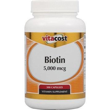 Vitacost Brand Vitacost Biotin -- 5000 mcg - 300 Capsules