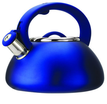 Epoca Avalon 2.5qt Whistling Kettle - Matte Blue
