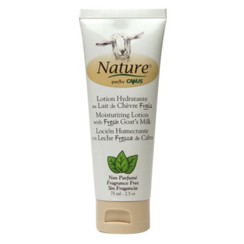Nature by Canus Moisturizing Lotion with Fresh Goat's Milk, Fragrance Free, 2.5 oz