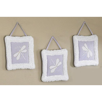 Sweet Jojo Designs Purple Dragonfly Dreams Collection Wall Hangings