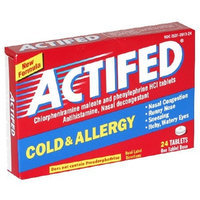 Actifed Cold & Allergy Relief Tablets, 24-Count Tablets (Pack of 3)