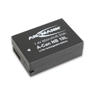 Ansmann 1400-0024 Ansmann 1400-0024 7.4 Volt A-Can NB10L 850mAh Lithium Replacement Battery for Cano