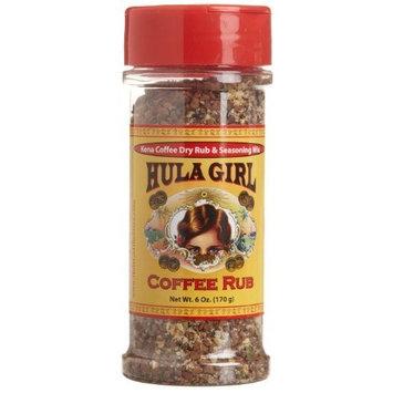 Hula Girl Kona Coffee Rub and Seasoning Mix, 6-ounce