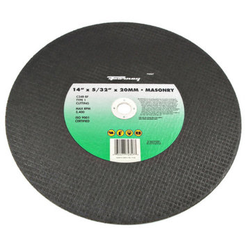 Forney 72357 Chop Saw Blade Type 1 High Speed Masonry with 20-Millimeter Arbor C24R-BF 14-Inch-by-5/