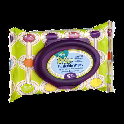 Pampers Kandoo Flushable Wipes Sensitive - 42 CT