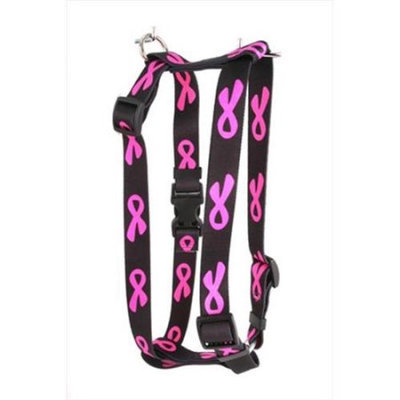 Yellow Dog Design Breast Cancer Black Step-In Harness